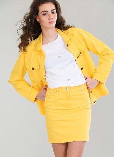 Agenda Mini Jean Etek Sarı